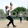 Rob Winner – rwinner@daily-chronicle.com<br /> <br /> Kaneland's Andrea Dimmig-Potts catches a sacrifice bunt attempt by Kelcee Miller in the fifth inning of the IHSA Class 3A Sycamore Regional championship game on Saturday May 29, 2010 in Sycamore, Ill. Sycamore went on to defeat Kaneland, 6-3.