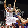 Rob Winner – rwinner@daily-chronicle.com<br /> <br /> NIU guard Xavier Silas goes up for a shot in the first half in DeKalb, Ill. on Friday November 12, 2010.