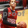 Kyle Bursaw - kbursaw@daily-chronicle.com<br /> <br /> Bianca Brown practices on the court at the Convocation center in DeKalb, Ill. on Nov. 4, 2010.