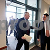 Rob Winner – rwinner@daily-chronicle.com<br /> Governor Pat Quinn (left) talks with Lawrence Strickling, assistant secretary for communications and information, upon arrival at the DeKalb County Farm Bureau in Sycamore, Ill. on Friday February 19, 2010.