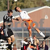 Rob Winner – rwinner@daily-chronicle.com<br /> <br /> Sycamore's Dylan Schmidt (20) and DeKalb's Andrew Stratton look to control a ball during the first half in DeKalb, Ill. on Thursday October 7, 2010. DeKalb defeated Sycamore, 2-1.