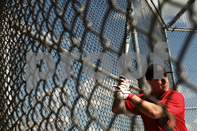 Beck Diefenbach  -  bdiefenbach@daily-chronicle.com<br /> <br /> Tom Crouch, of DeKalb is the starting shortstop for a world class fastpitch softball team in Appleton Wisconsin.