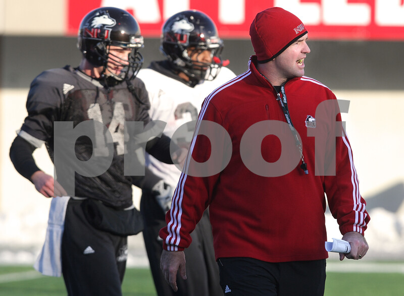 Kyle Bursaw – kbursaw@daily-chronicle.com<br /> <br /> Interim head coach Tom Matukewicz at practice on Friday, Dec. 10, 2010.