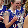 Rob Winner – rwinner@daily-chronicle.com<br /> Alyssa Baunach (23) celebrates with her team after Hinckley-Big Rock defeated Elgin Academy in Thursday night's sectional game at Mooseheart.