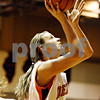 Rob Winner – rwinner@daily-chronicle.com<br /> <br /> DeKalb's Kelli Gerace takes a shot in the first quarter on Tuesday November 16, 2010 in DeKalb, Ill.