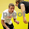 Beck Diefenbach  -  bdiefenbach@daily-chronicle.com<br /> <br /> Austin Culton, left, wrestles with Sycamore teammate Steve Lalowski during practice at Sycamore High School on Monday June 28, 2010. Culton and his brother Kyle will be competing in the wrestling nationals in Fargo, North Dakota on July 19.