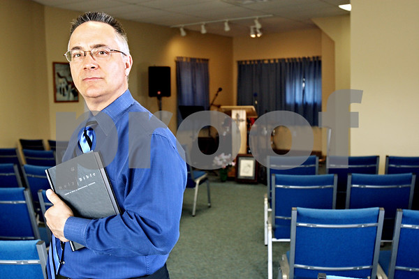 Rob Winner – rwinner@daily-chronicle.com<br /> <br /> Scott Trandel is the pastor of Sycamore Victory Church which has moved into its new space at 505 DeKalb Avenue in Sycamore, Ill. <br /> <br /> Tuesday May 18, 2010