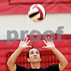 Beck Diefenbach  -  bdiefenbach@daily-chronicle.com<br /> <br /> Northern Illinois' freshman, and former Sycamore High School athlete, Justine Schepler warms up during practice at Victor E. Court at the Convocation Center on the campus of Northern Illinois University in DeKalb, Ill., on Monday Aug. 30, 2010.