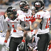 Kyle Bursaw – kbursaw@daily-chronicle.com<br /> <br /> Northern Illinois wide receiver Martel Moore (1) reacts to losing a fumble in the third quarter of the MAC Championship game. The Miami (OH) Redhawks defeated the Northern Illinois Huskies 26-21at Ford Field in Detroit, Mich. on Friday, Dec. 3, 2010.