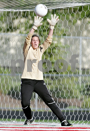 Rob Winner – rwinner@daily-chronicle.com<br /> <br /> Sycamore's Sarah Fischer goes high to block a shot during the first half of the IHSA Class 2A Barrington Super-Sectional on Tuesday June 1, 2010 in Barrington, Ill. Saint Viator defeated Sycamore, 3-0.