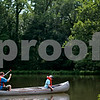 Beck Diefenbach  -  bdiefenbach@daily-chronicle.com<br /> <br /> Camp staff member Nathan Schieber (left) and camper Ron Danekas canoe on the lake at Walcamp Outdoor Ministries in Kingston, Ill., on Monday July 12, 2010.