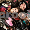 Beck Diefenbach - bdiefenbach@daily-chronicle.com<br /> <br /> Clockwise from left, Rachel Miller, Brandon Graves and Alicia Dailey are some of the teens at Salem Lutheran Church in Sycamore, Ill., collecting gently used shoes for Share Your Soles.