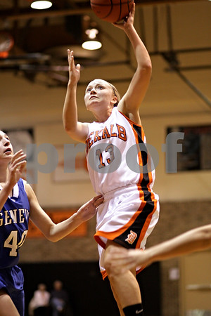Beck Diefenbach  -  bdiefenbach@daily-chronicle.com<br /> <br /> DeKalb's Kay Smith (13) shoots the ball during the third quarter of the game against Geneva at DeKalb High School, in DeKalb, Ill., on Friday Jan. 5, 2010. Geneva defeated DeKalb 44 to 41.
