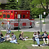 Beck Diefenbach  -  bdiefenbach@daily-chronicle.com<br /> <br /> Northern Illinois students in the Bird and Mammals course study for their up coming final after leaving their classroom in the Montgomery Building following a fire on the fourth floor of the building on the campus of Northern Illinois University in DeKalb, Ill., on Thursday May 6, 2010.