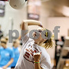 Beck Diefenbach  -  bdiefenbach@daily-chronicle.com<br /> <br /> Kaylee Lindemann, of DeKalb, spikes a stationary volleyball during training at Athletic Republic in DeKalb, Ill., on Wednesday July 21, 2010.