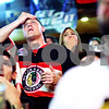 Beck Diefenbach  -  bdiefenbach@daily-chronicle.com<br /> <br /> Michael Gentile, of DeKalb, reacts while watching the Chicago Blackhawks play the Philadelphia Flyers in Game 6 of the Stanley Cup Finals at Lord Stanely's Bar in DeKalb, Ill., on Wednesday June 9, 2010.