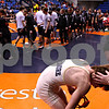Beck Diefenbach - bdiefenbach@daily-chronicle.com<br /> <br /> Sycamore's Shane Lay is consoled by Randy Culton (far right) after his loss to  Crystal Lake Central's Christian Malouf in the 140 weight class match of the IHSA Class 2A dual team state tournament at the U.S. Cellular Coliseum in Bloomington, Ill., on Saturday Feb. 27, 2010.