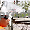 Beck Diefenbach  -  bdiefenbach@daily-chronicle.com<br /> <br /> Construction workers do work on the rail road crossing just south of the intersection of Pine Avenue and Loves Road in Cortland, Ill., on Tuesday April, 20, 2010.