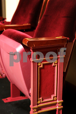 Beck Diefenbach  -  bdiefenbach@daily-chronicle.com<br /> <br /> Two examples of the new seats are on display in the lobby of the Egyptian Theater in DeKalb, Ill.