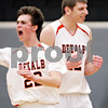 Beck Diefenbach - bdiefenbach@daily-chronicle.com<br /> <br /> DeKalb's Jordan Threloff (right) and Brian Sisler (22) react after defeating Kaneland in the IHSA Class 3A Regional championship game at Kaneland High School in Maple Park, Ill., on Friday March 3, 2010.