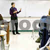 Rob Winner – rwinner@daily-chronicle.com<br /> <br /> Northern Illinois University professor Winifred Creamer lectures to students during her anthropology class at NIU in DeKalb, Ill. on Thursday April 8, 2010. Creamer is leading a workshop for female NIU students to help push for equal rights for women in the workplace.