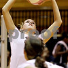 Rob Winner – rwinner@daily-chronicle.com<br /> <br /> DeKalb's Courtney Thomas sets a ball during the first game against Kaneland in DeKalb, Ill. on Tuesday October 12, 2010. DeKalb went on to defeat Kaneland, 25-18 and 25-11.