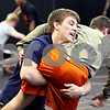 Rob Winner – rwinner@daily-chronicle.com<br /> <br /> Doug Johnson (left) practices with Jake Jones Tuesday November 16, 2010 in the wrestling room at DeKalb High School in DeKalb, Ill.