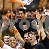 Beck Diefenbach  -  bdiefenbach@daily-chronicle.com<br /> <br /> DeKalb High School students celebrate following the game winning shot by Jake Jouris to defeat Geneva 55 to 52 at DeKalb High School, in DeKalb, Ill., on Friday Jan. 5, 2010.