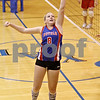 Rob Winner – rwinner@daily-chronicle.com<br /> <br /> Hinckley-Big Rock's Emily Stege is unable to save a ball during the first against Mooseheart in Hinckley, Ill. on Wednesday October 27, 2010. Hinckley-Big Rock defeated Mooseheart, 25-11 and 25-14.