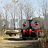 Rob Winner – rwinner@daily-chronicle.com<br /> <br /> A dive-rescue unit from the St. Charles Fire Department travel down the walking path towards the Kishwaukee River near the Elks Lodge in DeKalb, Ill. on Thursday October 21, 2010.