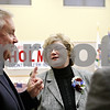Rob Winner – rwinner@daily-chronicle.com<br /> <br /> (From left to right) Former county clerk and recorder Terry Desmond, retiring county clerk and recorder Sharon Holmes, and John Acardo the incoming county clerk and recorder talk during a retirement party for Holmes at the DeKalb County Legislative center in Sycamore on Tuesday afternoon.