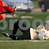 Rob Winner – rwinner@daily-chronicle.com<br /> <br /> Sycamore goalkeeper Sarah Fischer makes a save late in the second half on Thursday April 22, 2010 in Sycamore, Ill. Batavia went on to defeat Sycamore, 2-0.