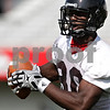 Beck Diefenbach - bdiefenbach@daily-chronicle.com<br /> <br /> Northern Illinois wide receiver Ladon Cox during the first practice at Huskie Stadium in DeKalb, Ill., on Thursday Aug. 5, 2010.
