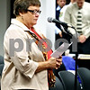 Wendy Kemp – For The Daily Chronicle<br /> <br /> Diaconal Minister Judy Bergeson of Salem Lutheran Church says a prayer before the Sycamore City Council meeting on Monday October 18, 2010 in Sycamore, Ill.