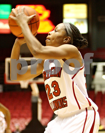 Rob Winner – rwinner@daily-chronicle.com<br /> <br /> Northern Illinois guard Marke Freeman puts up two during the first half in DeKalb, Ill. on Tuesday, Dec. 28, 2010.