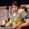 "Beck Diefenbach – bdiefenbach@daily-chronicle.com<br /> <br /> Jennifer Busby (left), playing the part of Annie, and Madisyn (cq) Campbell, as Molly, during rehearsal for The Penguin Project's production of ""Annie Jr."" at Sycamore High School in Sycamore, Ill., on Tuesday Sept. 14, 2010."