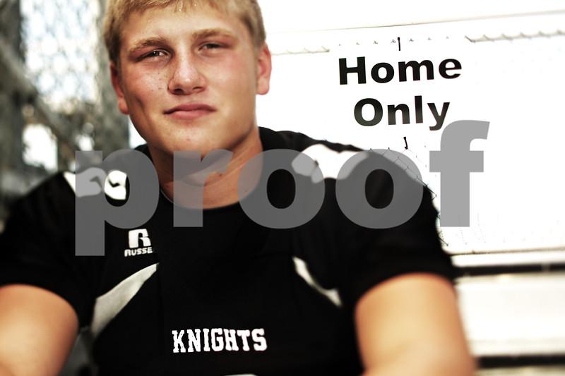 Beck Diefenbach - bdiefenbach@daily-chronicle.com<br /> <br /> Kaneland High School football player Blake Serpa