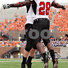 Rob Winner – rwinner@daily-chronicle.com<br /> <br /> Northern Illinois running back Chad Spann (28) celebrates his touchdown with teammate Connor Flahive during the first half of their game in Champaign, Ill.  on Saturday September 18, 2010.