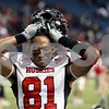 Kyle Bursaw – kbursaw@daily-chronicle.com<br /> <br /> Northern Illinois wide receiver Nathan Palmer (81) reacts to the Huskies 26-21 loss in the MAC Championship game between the Northern Illinois Huskies game and the Miami (Ohio) Redhawks<br /> at Ford Field in Detroit, Mich. on Friday, Dec. 3, 2010.