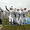 Wendy Kemp - For The Chronicle<br /> <br /> The Kaneland team cheers after scoring the winning touchdown during Saturday's playoff game against Vernon Hills High School.