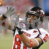 Kyle Bursaw – kbursaw@daily-chronicle.com<br /> <br /> Northern Illinois wide receiver Nathan Palmer (81) catches a pass during pre-game warm-ups at Ford Field in Detroit, Mich. on Friday, Dec. 3, 2010.