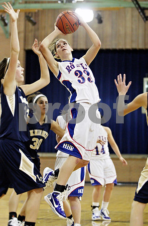 Rob Winner – rwinner@daily-chronicle.com<br /> <br /> Hinckley-Big Rock's Tess Godhardt puts up two during the second quarter in Somonauk, Ill. on Monday November 15, 2010.