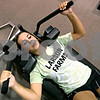 Rob Winner – rwinner@daily-chronicle.com<br /> <br /> DeKalb soccer player Allison Smith works out on a plyo press floor at Athletic Republic in DeKalb, Ill. on Wednesday July 21, 2010.
