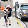 Rob Winner – rwinner@daily-chronicle.com<br /> <br /> The Barbs coach Justin Keck hugs his son James Keck, 8, who is the batboy for the team, before heading down to Joliet for the IHSA Class 3A State semifinal on Friday June 11, 2010.<br /> <br /> DeKalb, Ill.