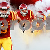 Beck Diefenbach  -  bdiefenbach@daily-chronicle.com<br /> <br /> Iowa State University football team enters the field at Jack Trice Stadium on the campus of Iowa State University in Ames, Iowa, on Thursday Sept. 2, 2010. Iowa State defeated Northern Illinois 27 to 10.