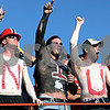 Rob Winner – rwinner@daily-chronicle.com<br /> <br /> Northern Illinois fanatics with painted chests cheer on the Huskies during the third quarter of their game in DeKalb, Ill. on Saturday October 16, 2010.