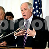 Rob Winner – rwinner@daily-chronicle.com<br /> An emotional Governor Pat Quinn announces capital funding for Cole Hall and Stevens Hall at NIU in DeKalb on Wednesday January 27, 2010.
