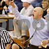 Rob Winner – rwinner@daily-chronicle.com<br /> <br /> Kaneland coach Brian Johnson reacts during the third quarter of the fifth place game against Sandwich at the Plano Christmas Classic in Plano, Ill. on Thursday, December 30, 2010. Sandwich defeated Kaneland, 42-40.