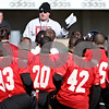 Rob Winner – rwinner@daily-chronicle.com<br /> <br /> Coach Jerry Kill addresses his team after NIU football practice on Tuesday March 23, 2010 in DeKalb, Ill.