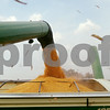 Beck Diefenbach – bdiefenbach@daily-chronicle.com<br /> <br /> Kernels flow from the combine into a bin   after being harvested by Paul Rasmussen in Sycamore, Ill., on Tuesday Sept. 21, 2010.